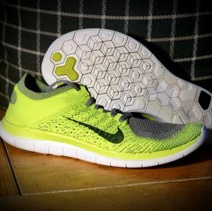 Nike Free Flyknit 4.0 Volt Size 12